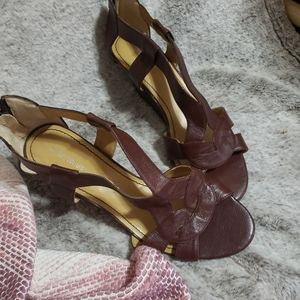 Aldo brown leather sandal size 8.5
